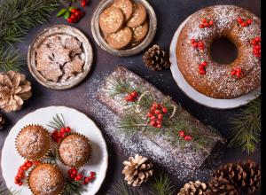 Los tres postres para la época de Navidad